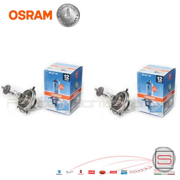 OSRAM-Halogene-Coppia-Due-Luci-Lampadine-H4-h4-Original-Spare-part