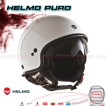 Casco-Demi-Jet-Helmo-Milano-Puro-Visiera-Scomparsa-Bianco-White