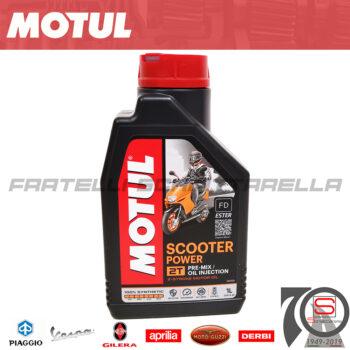 Lubrificante Olio Miscela Motul Scooter Power 2 Tempi Sintetico 100% motore miscelatore mix 3374650016573 101265 105881
