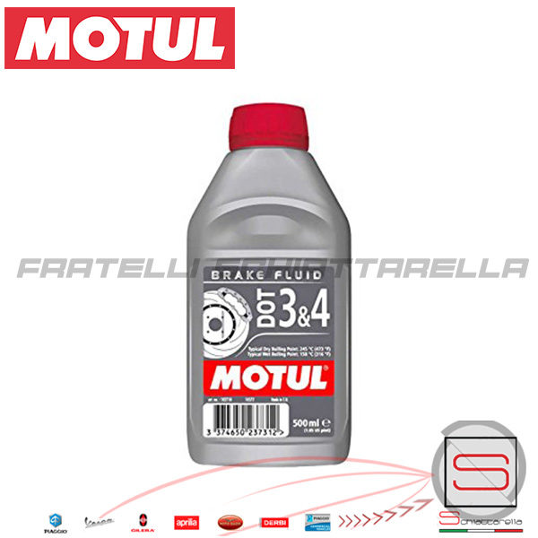 Liquido-Olio-Freni-Brake-Fluid-Motul-Dot-3-4-500-Ml-Moto-Scooter-Auto