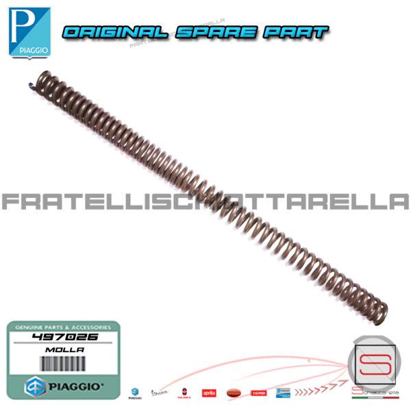 Molla Sospensione Ammortizzatore Forcella Originale Piaggio Free Fl 2002 497026 Fodero Anteriore
