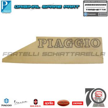 Targhetta Nero Piaggio Portello Cofano Baule Posteriore Hexagon 125 296895 2969030095 Scritta Nero