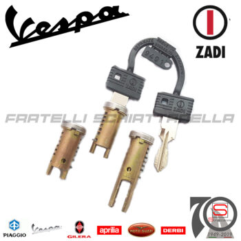 6215 Kit Serie 3 Serrature Chiavi Piaggio Vespa Fl Sella Lunga Eq 265828