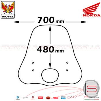 e122 Parabrezza Paravento Con Attacchi Isotta Honda SH 125-150 Ie 2009-2012
