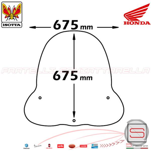 Parabrezza Paravento Con Attacchi Isotta Honda Nes Chiocciola @ 125 150