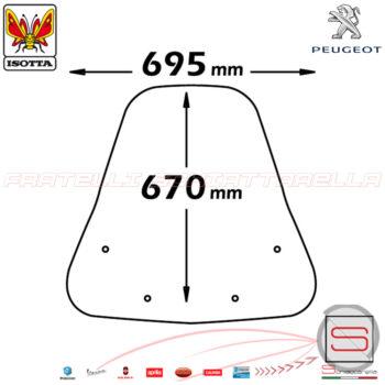 sc2543 Parabrezza Paravento Con Attacchi Isotta Peugeot LXR Sym HD