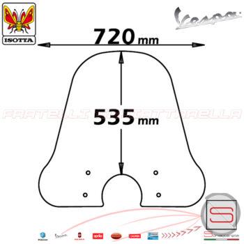 sc4154 Parabrezza Paravento Con Attacchi Isotta Piaggio Vespa PXE Px Freno Disco Pk XL