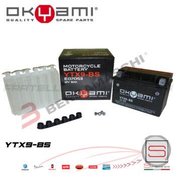 E07053 Batteria Accumulatore Okyami YTX9-BS