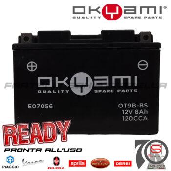 Batteria Accumulatore Moto Scooter Okyami YT9B-BS E07056 E0820810 Acido Corredo