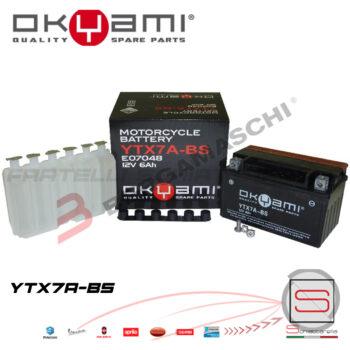 E07048 Batteria Accumulatore Okyami YTX7A-BS