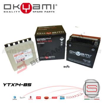 E07062 Batteria Accumulatore Okyami YTX14-BS