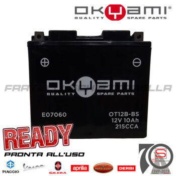 Batteria Accumulatore Moto Scooter Okyami YT12B-BS E07060 E0821010 AP8127619 E01130