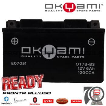 Batteria Accumulatore Moto Scooter Okyami YT7B-BS E07051 E0820611