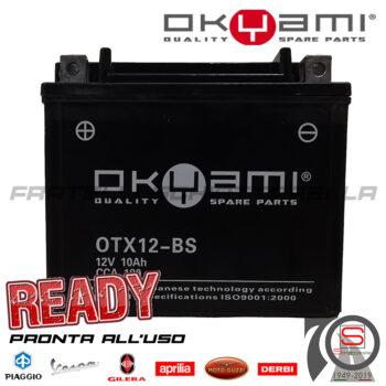 Batteria Accumulatore Moto Scooter Okyami YTX12-BS E07058 E0821211 445304 497409 582224 583158