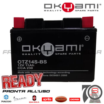 Batteria Accumulatore Moto Scooter Okyami YTZ14S-BS E07063