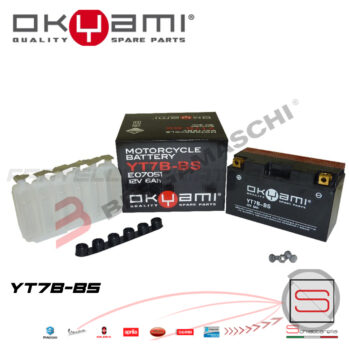 E07051 Batteria Accumulatore Okyami YT7B-BS