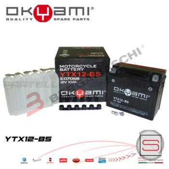 E07058 Batteria Accumulatore Okyami YTX12-BS