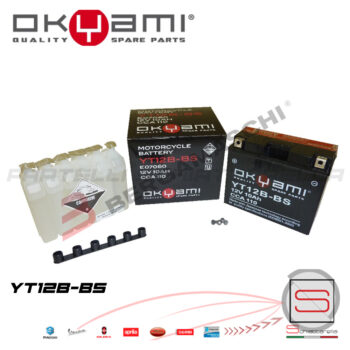 E07060 Batteria Accumulatore Okyami YT12B-BS