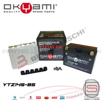 E07063 Batteria Accumulatore Okyami YTZ14S-BS