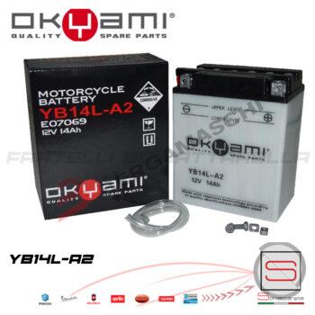 E07069 Batteria Accumulatore Okyami YB14L-A2