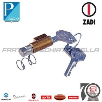 Cilindretto Serratura Sterzo Chiave Ferro Zadi Feritoia 6mm Vespa Px Zadi-121790202