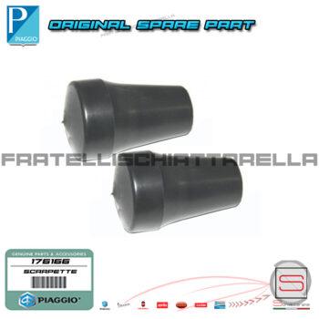 Coppia Scarpette Gommini Cavalletto Originale Piaggio Cosa Vespa Px Xl Pk FL Hp 176166