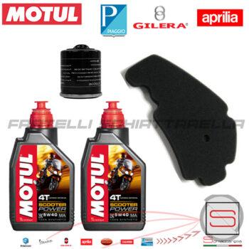 Kit14 Kit Tagliando Motul Filtro 82635R 829258 Piaggio