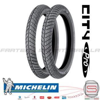 Coppia-Pneumatici-Gomma-Ruota-City-Pro-Michelin-Scooter-Moto