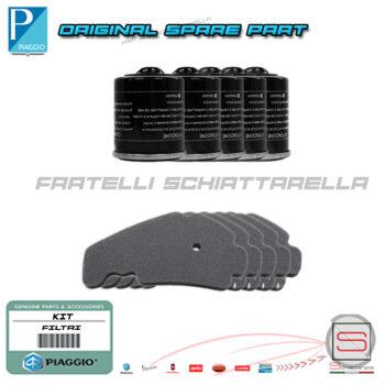Kit Tagliando-Officine-5-Filtri-Olio-82635r-5-Aria-829258-Aprilia-SportCity