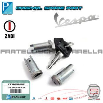 Serie 3 Serrature Cilindretti Chiave Originale Piaggio Vespa Px Dal 1984 179292 121790062 Kit Chiave 1792925