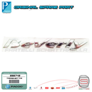 656743 Targhetta Adesiva Scocca Laterale Originale Piaggio Beverly Rst Tourer