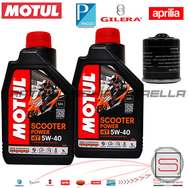 Kit24-Kit-Tagliando-Olio-Motul-Piaggio-Gilera-Aprilia 2020 new