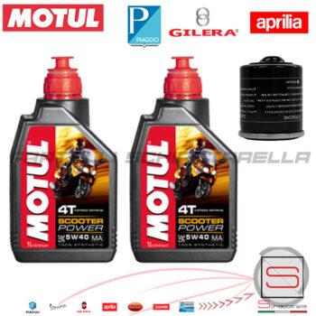 Kit24 Kit Tagliando Olio Motul Piaggio Gilera Aprilia