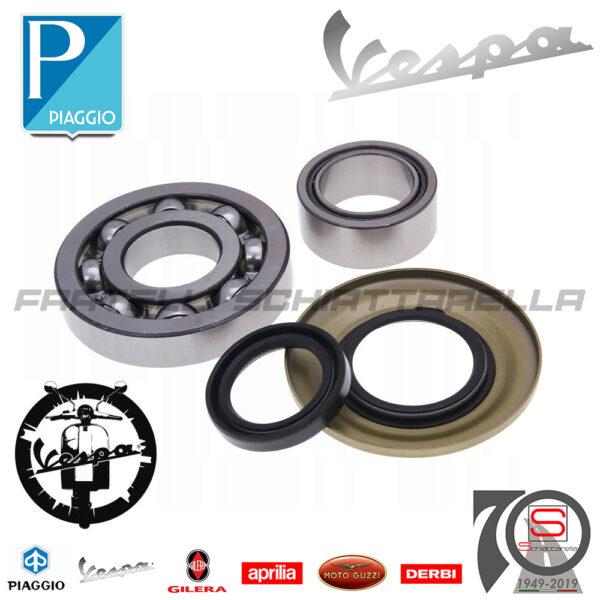 Kit Cuscinetti Paraoli Revisione Albero Motore Vespa Px Cosa Eq 133068 097804100190010100200163100663002100664802100666002 431121 431122 130536 478498
