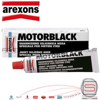 Mastice Siliconico Alte Temperature Nero Pasta Forma Guarnizioni 2063 267200140 Arexon Ermetico Motori Fire Pic