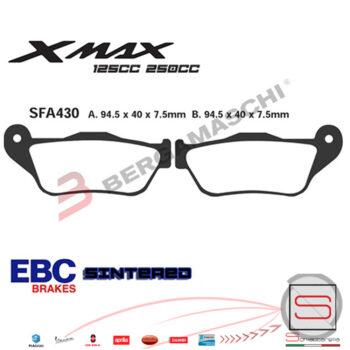 Pastiglie Freno Yamaha X-Max X Max 125 250 Skycruiser FDB2208 FA430R1743000 R1243000 R1643000 R2343000