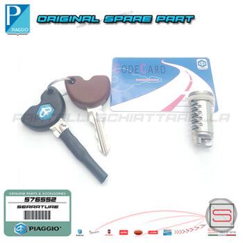 576552 Serie Kit Serrature Cilindretti Chiave Originale Piaggio X9 X8 Beverly