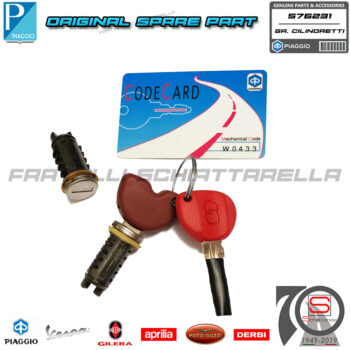 Serie Kit Serrature Cilindretti Chiave Originale Gilera Runner VX VXR 576231
