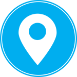 icon blue gps