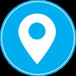 icon blue gps