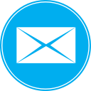 icon email icona blue