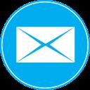 icon email icona blue