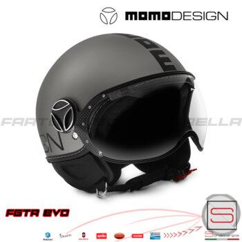 CASCO-FIGHTER-FGTR-Evo-Evolution-Titano-Nero-Opaco-Taglia-S-M-L-XL-Momo-Design