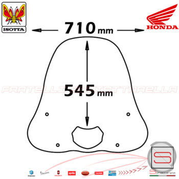 cls19 Parabrezza Paravento Con Attacchi Isotta Honda SH 125 150 2001-2004