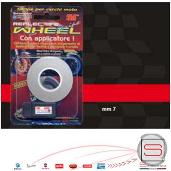 10282 Striscia Nastro Cerchi Ruota 3M Con Applicatore Colore Rosso Riflettente 6 Mt