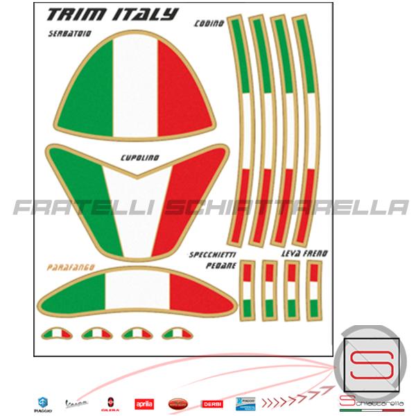 5001 Set Kit Fregi Adesivi Italian Style Trim Italia