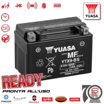 Batteria Accumulatore Moto Scooter Originale YUASA YTX9-BS E01158 E07053 E0820812 498239 497410 294748 445303 Acido Corredo