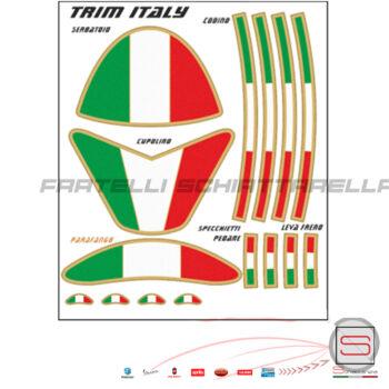 Set Fregi Targhette Adesivi Glitter Trim Italian Style Per Carene Moto Cupolino Specchietti Codone 5001 3M Italia