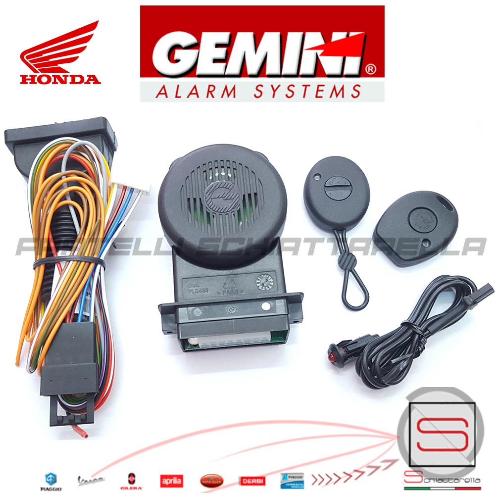 Kit Antifurto Elettronico Allarme Antirapina Gemini 953nh Honda Sh