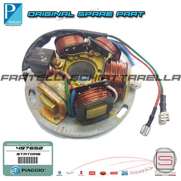 Statore Magnete Elettrico Supporto Bobine Originale Piaggio Vespa PX AE V100217866 217866 497652 P431937100 Cosa T5 V100135200 290140 Volano